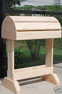Wooden Saddle Stand / natural finish / FREE SHIPPING