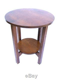 Wow Large Mission Tabouret End Stand Solid Oak 24 Inch Free Shipping