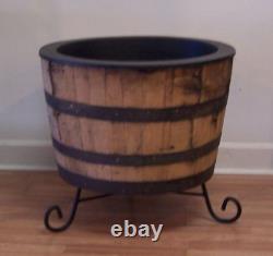 Wrought Iron Stand for White Oak Whiskey Barrel-Rain Barrels-FREE SHIPPING